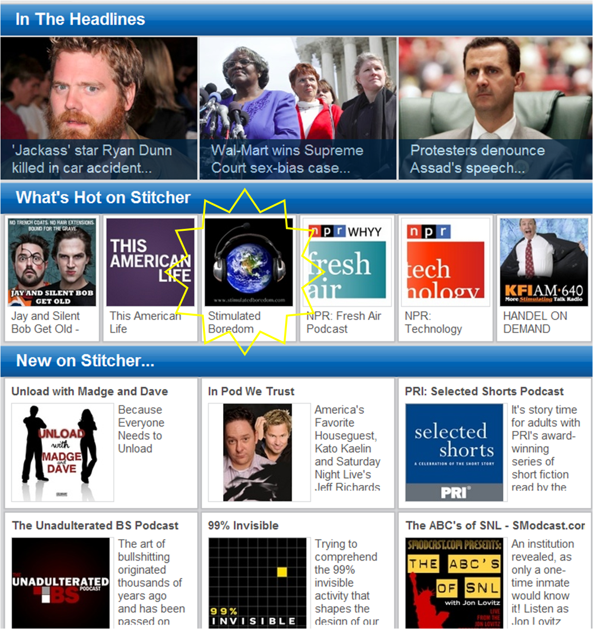 What's HOT on Stitcher