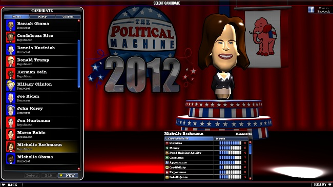 The Political Machine candidate selection The Political Machine 2012 Review