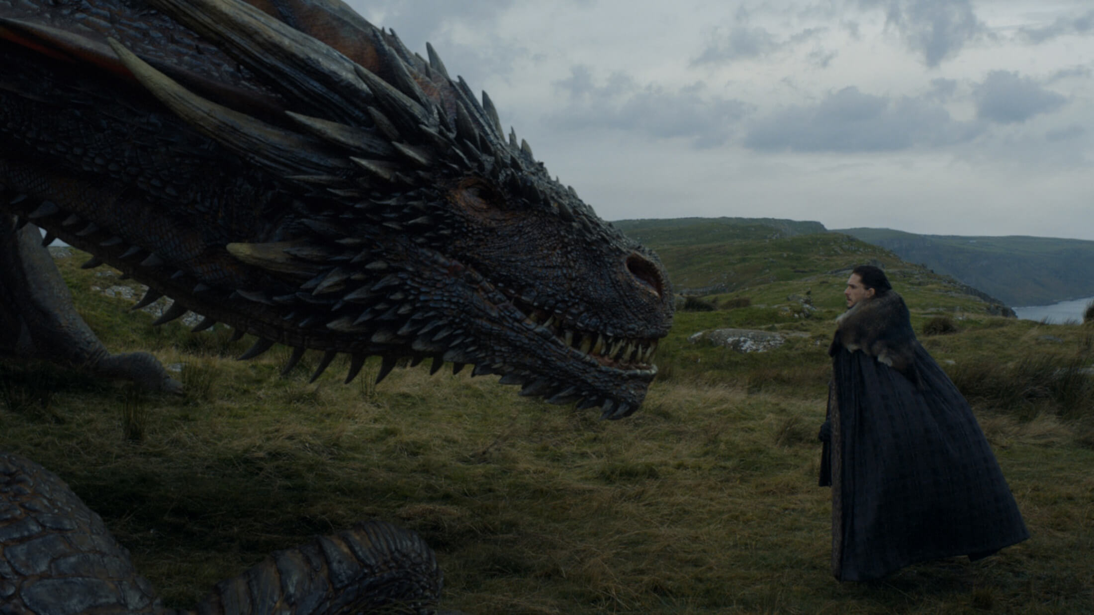 Jon Snow and Drogon Eastwatch episode